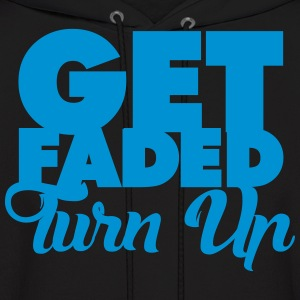 Get Faded Turn Up Hoodies - Men's Hoodie