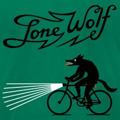Lone Wolf on bike T-Shirts