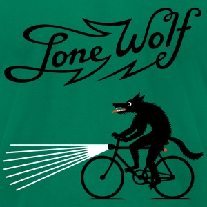 Lone Wolf on bike T-Shirts - Men's T-Shirt by American Apparel