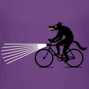 Wolf on bike Kids' Shirts - Kids' Premium T-Shirt