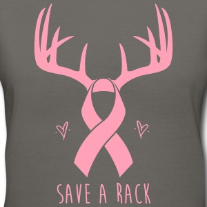 Save a Rack Rack Breast Cancer Awareness T Shirt - Women's V-Neck T-Shirt