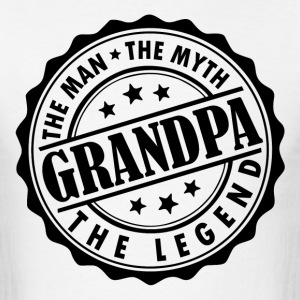 Grandpa-The Man The Myth The Legend T-Shirts - Men's T-Shirt