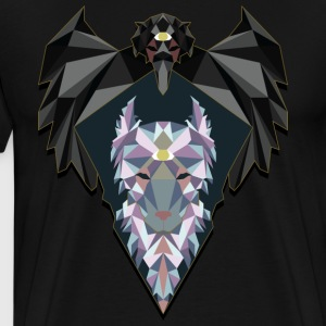 Raven and Wolf - Men's Premium T-Shirt
