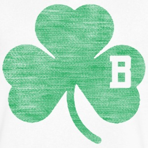 Distressed Buffalo B Shamrock T-Shirts - Men's V-Neck T-Shirt by Canvas