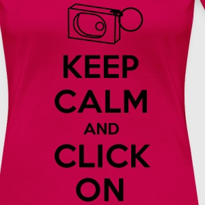 Keep Calm and Click On - Women's Premium T-Shirt