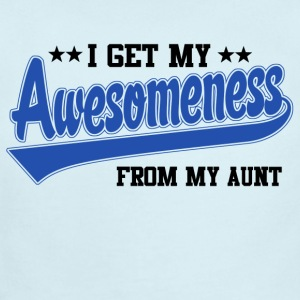 Awesomeness From My Aunt Baby & Toddler Shirts - Short Sleeve Baby Bodysuit