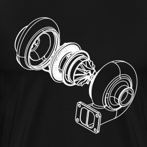 Exploded Turbo White T-Shirts - Men's Premium T-Shirt