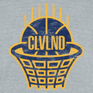 CLVLND Baller Vintage T-Shirt (Gray) - Made in USA - Unisex Tri-Blend T-Shirt by American Apparel