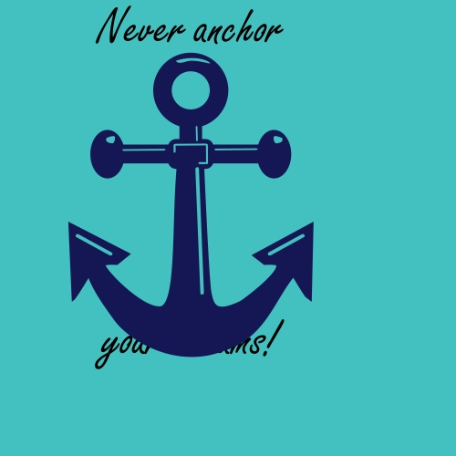 A classic ships or boats anchor
