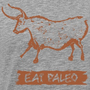 Cave Painting Waterbuffalo Paleo Diet T-Shirt Sepi - Men's Premium T-Shirt