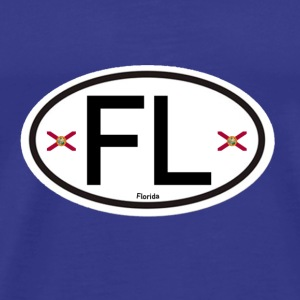Florida Euro-Oval - Men's Premium T-Shirt