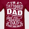 father_day_tattooed_dad tshirt - Men's T-Shirt