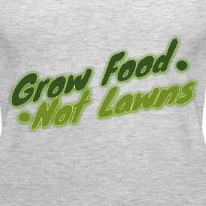 Grow food not lawn urban farming  - Women's Premium Tank Top