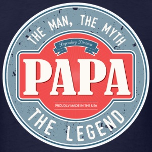Papa -The  Man, Myth, The Legend - Men's T-Shirt