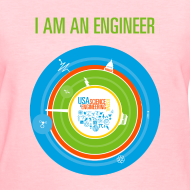 Design ~ Women's I am an Engineer T-Shirt (Front and Back Design)