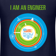 Design ~ Men's I am an Engineer Shirt (Front and Back Design)