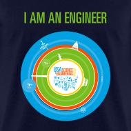 Design ~ Men's I am an Engineer Shirt (Front and Back Design)