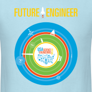 Design ~ Men's Future Engineer T-Shirt (Front and Back Design)