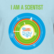 Design ~ Women's I am a Scientist T-Shirt (Front and Back Design)