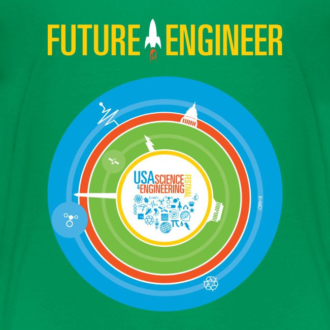 Kids Future Engineer T-shirt (Front and back Design)