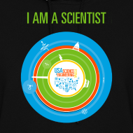 Design ~ Women's  I am a Scientist Hoodie  (Front and Back Design)