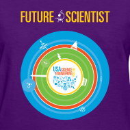 Design ~ Women's Future Scientist Shirt (Front and back Design)