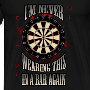 Darts T-shirt - Darts in a bar - Men's Premium T-Shirt
