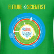 Design ~ Men's Future Scientist T-Shirt (Front and Back Design)
