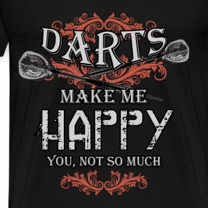 Darts T-shirt - Darts make me happy - Men's Premium T-Shirt