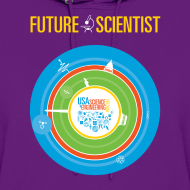 Design ~ Women's Future Scientist Hoodie (Front and Back Design)