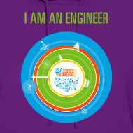 Design ~ Women's  I am an Engineer Hoodie (Front and Back Design)