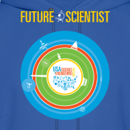 Design ~ Men's Future Scientist Hoodie (Front and Back Design)