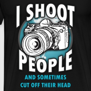 Photography T-shirt - I shoot people - Men's Premium T-Shirt