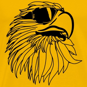 Eagle of Eagle head sunglasses cool T-Shirts - Men's Premium T-Shirt