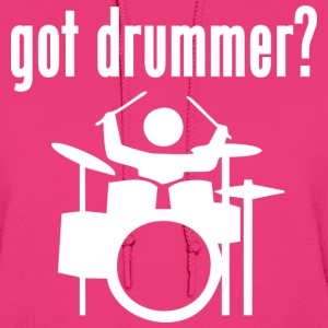 Got Drummer? Playing Drums Hoodies - Women's Hoodie