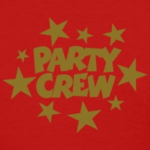 Party Crew T-Shirt (Women Red/Gold) - Women's T-Shirt