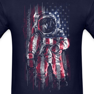 Astronaut Flag T-Shirts - Men's T-Shirt
