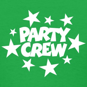 Party Crew T-Shirt (Women Green/White) - Women's T-Shirt