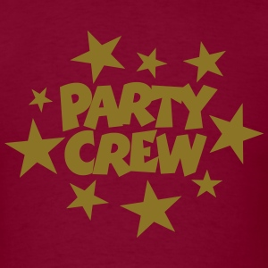 Party Crew T-Shirt (Men Burgundy/Gold) - Men's T-Shirt