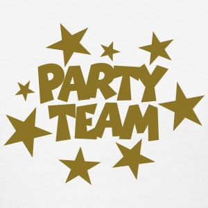 Party Team T-Shirt (Women White/Gold) - Women's T-Shirt