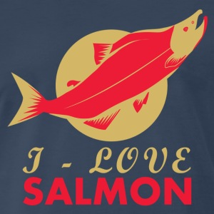 I Love Salmon - Men's Premium T-Shirt