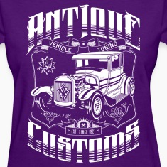 Hot Rod - Antique Customs Women's T-Shirts