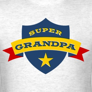 Super Grandpa Shield T-Shirts - Men's T-Shirt