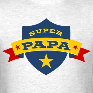Super Papa Shield T-Shirts - Men's T-Shirt