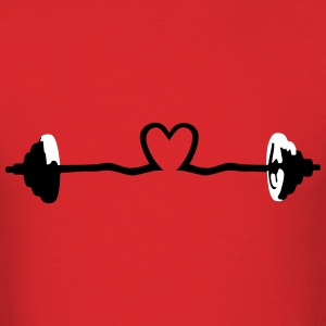 weightlifting - barbell and heart T-Shirts - Men's T-Shirt