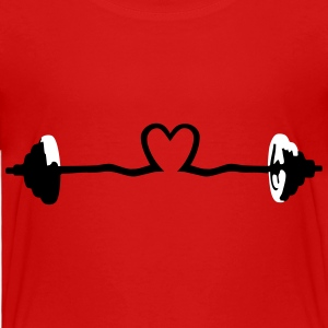 weightlifting - barbell and heart Baby & Toddler Shirts - Toddler Premium T-Shirt