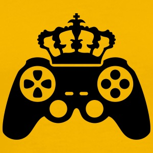 Gamer king Crown true controller logo King 8 bit T-Shirts - Men's Premium T-Shirt