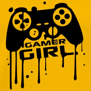 Gamer girl girls women female graffiti controller  T-Shirts - Men's Premium T-Shirt