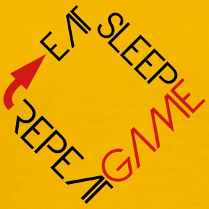 eat sleep game repeat text logo T-Shirts - Men's Premium T-Shirt