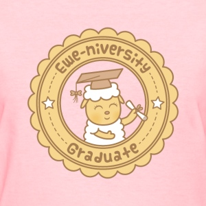 Cute Ewe University Pun Women's T-Shirts - Women's T-Shirt